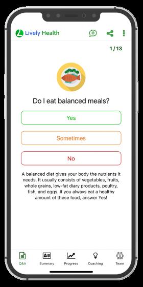 Q&A balanced meals page